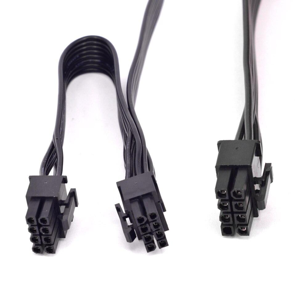 LOT 2 pcs SEASONIC 8pin to dual 8 6+2 pin PCIE VGA Power Supply PSU Cable