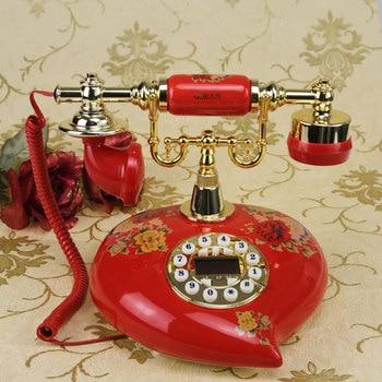 retro antique quality environmental protection Dehua porcelain wedding supplies Vintage home antique fixed telephone Rotate