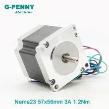 Шаговый двигатель с ЧПУ nema23 57x56 мм 3 А 635 нм вал d = 8