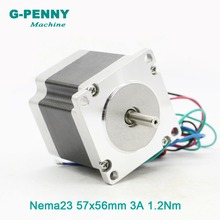 NEMA23 CNC Stepper Motor 57x56 nema 23 stepping motor 3A 1.2N.m shaft diameter 8mm 172Oz-in for CNC engraving machine 3D printer nema34 stepper motor 86x66mm 3n m 4a d14mm stepping motor 428oz in nema 34 for cnc engraving machine and 3d printer