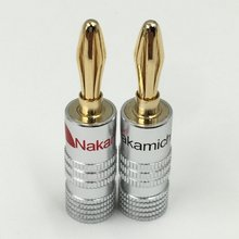 LBSC GD Amp Nakamichi Speaker Banana plug connectors nakamichi bt06s series round bluetooth speaker retail packaging