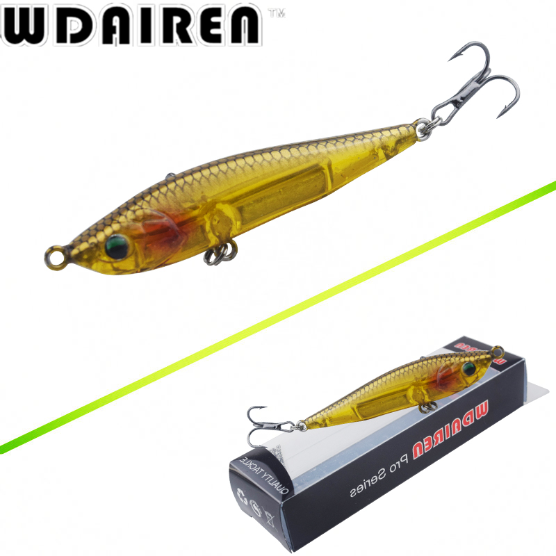 1Pcs 10.5g 7cm Pencil bait Topwater Floating Fishing lures Pencil Lure Hooks Crankbaits 5 Colors fishing tackle WD-464 new bass floating frog topwater fish fishing lure bait hooks tackle 60mm 9g
