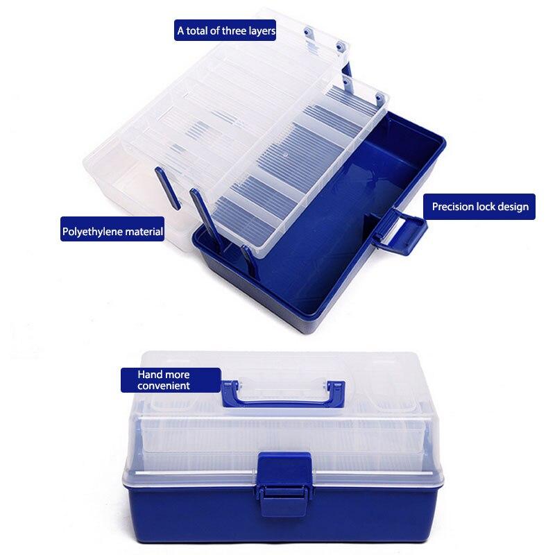 Foldable Handheld Fishing Tackle Box Case Fish Lure Bait Hooks <font><b>Float</b></font> Accessories Large Size Storage Boxes Fishing Equipment