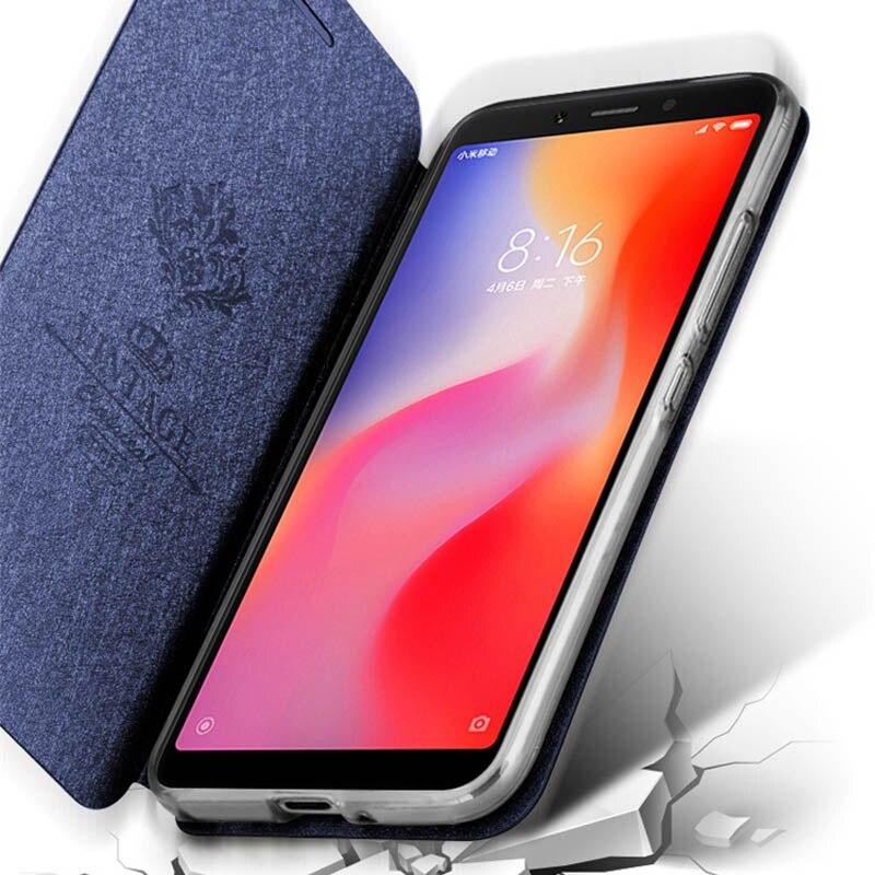 Image 3 - case for Xiaomi redmi 6 Redmi 6A Cover Leather Flip Case slim book mofi phone protect cover stand luxury glitter Redmi6 6a Case