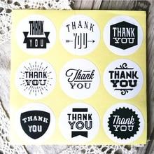 Продажа 90 шт./лот Винтаж белая крафт-Бумага спасибо канцелярские этикетка наклейка/студентов DIY ретро печать наклейка для изделий ручной работы