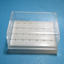 1pcs Dental Lab Instrument 24 Holes Plastic Bur Holder Burs Block Case Box