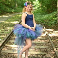 Peacock Feather Bird Bustle Tutu Skirt Newborn Baby Adult Teen Majestic Birthday Party Skirt Halloween Costume With Headband