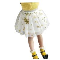 Toddler Girl Princess Tulle Skirts 2018 Spring Summer Five Star Print Lace Tutu Party Skirt Children