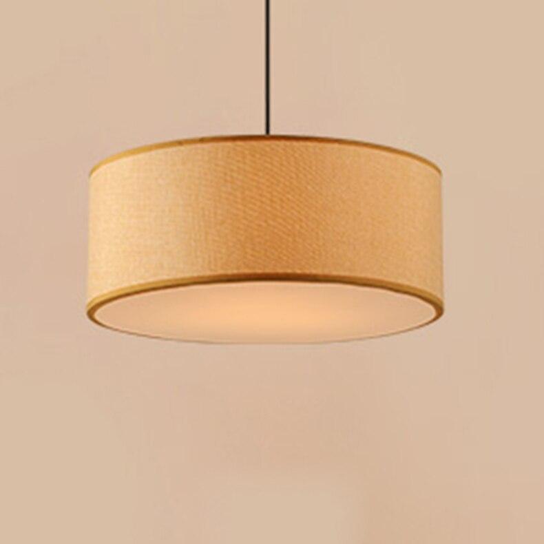 北欧布ペンダントライト人格ラウンド寝室リビングルームスタディホーム照明d30cm/d40cm/d50cm/d60cmランプza