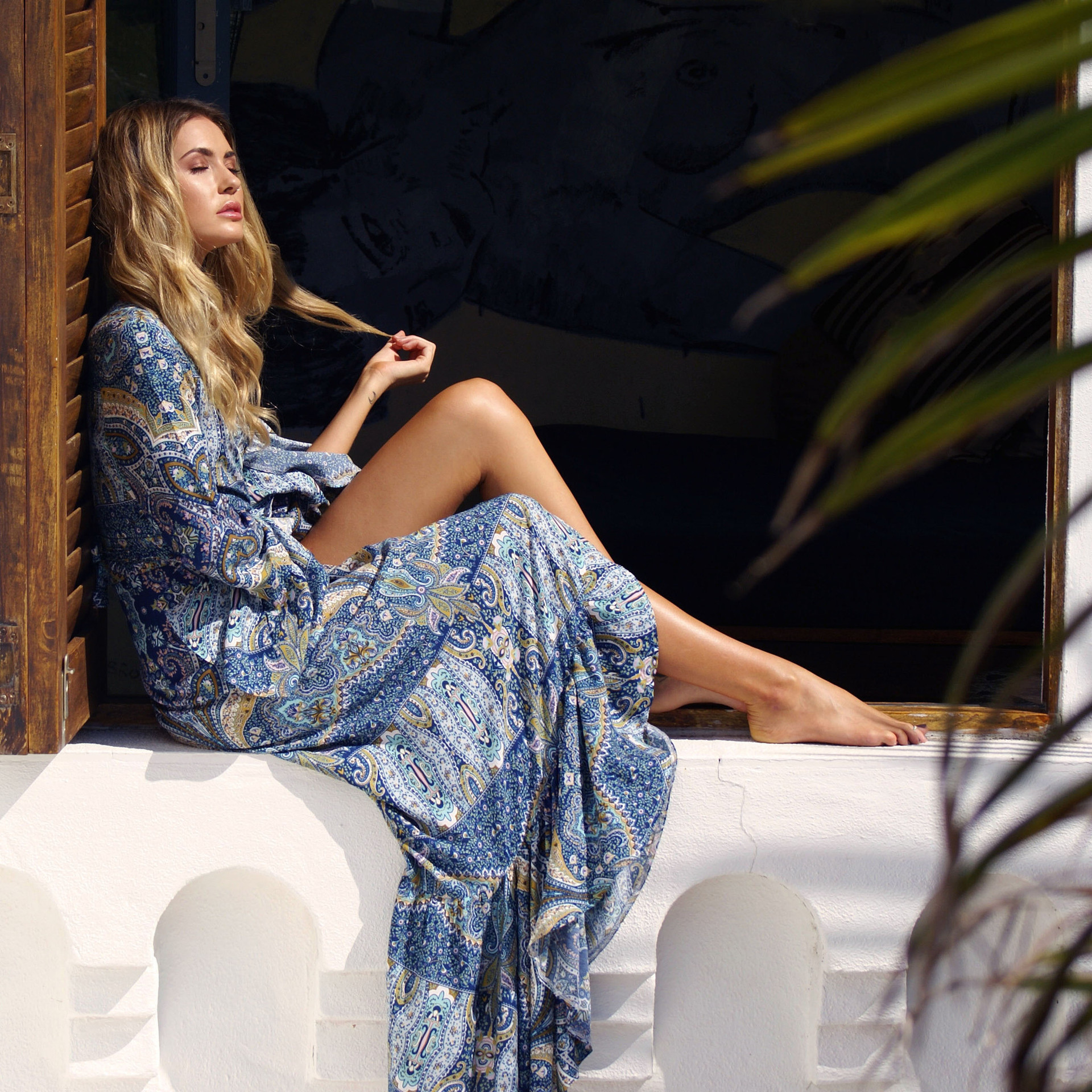 2019Large size ladies 39 amazon selling Bohemian dress spring summer beach dress in Dresses from Women 39 s Clothing