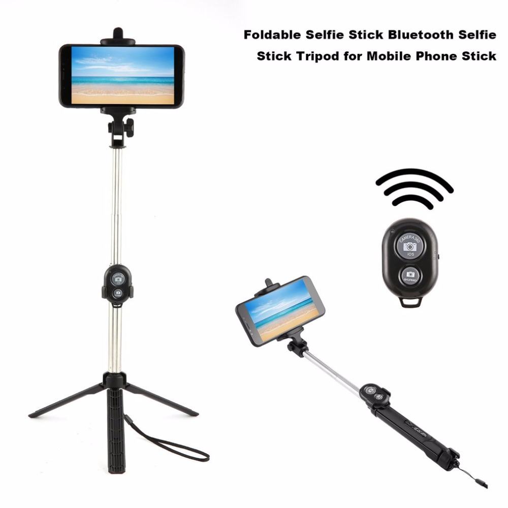Foldable Fashion Selfie Stick Bluetooth Selfie Stick Tripod Bluetooth Shutter Remote Controller For Mobile Phone Stick Drop Ship