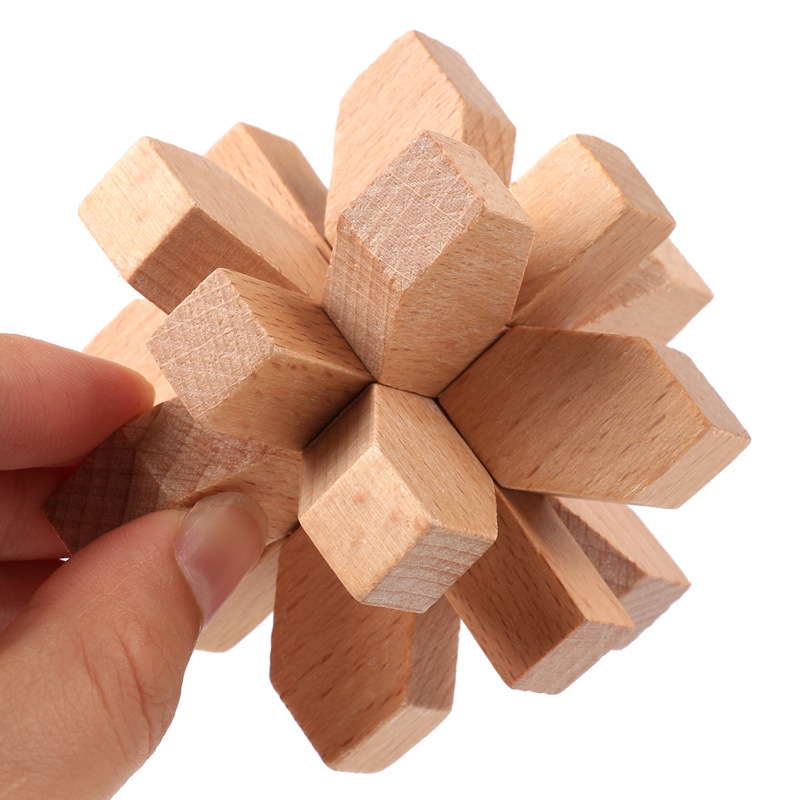 Assembly Challenging Educational 6pcs Chinese puzzle Kong Mingsuo Luban Lock wooden toys Desktop games Wood Adult unlock game in Model Building Kits from Toys Hobbies