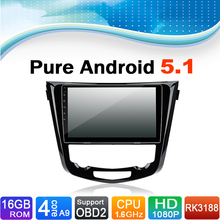 Pure Android 5.1.1 System Car DVD GPS Navigation System for Nissan X-Trial 2015