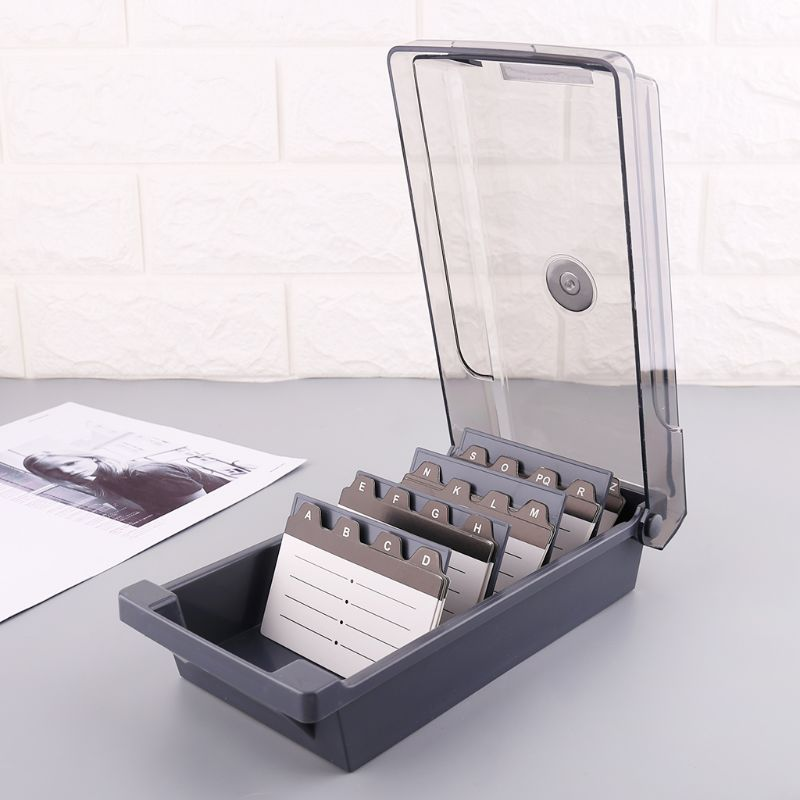 Large Capacity Splitter Index Tabs Business Card Holder Name Card Storage Box Organizer Case