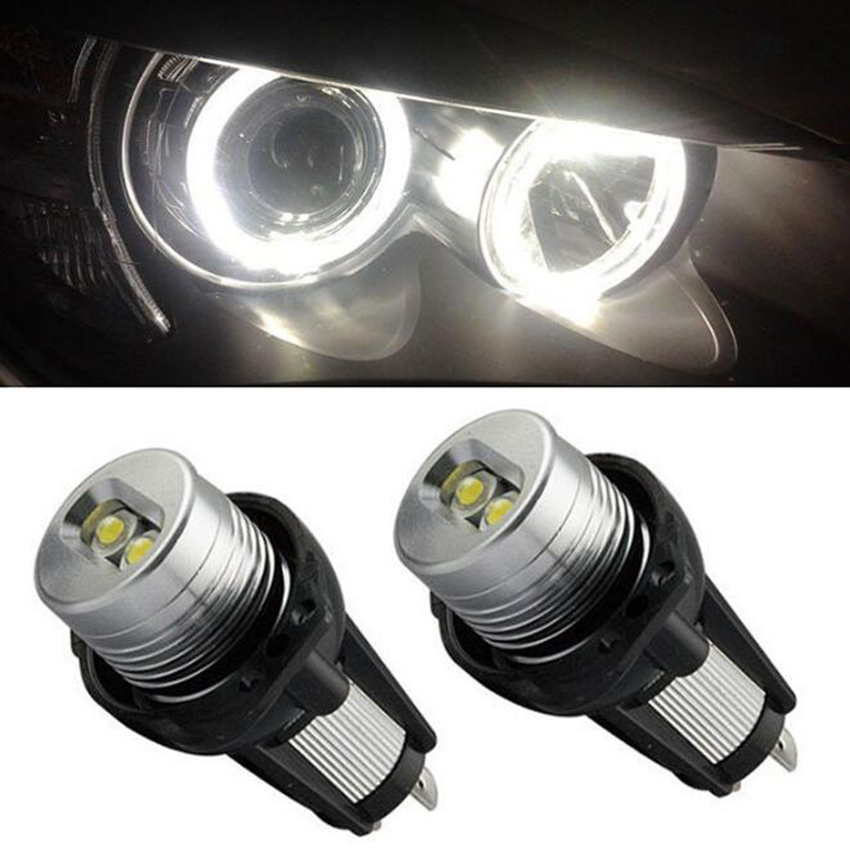 TOFOCO 2X Error Free Angel Eyes LED Halo Ring Light Bulbs For BMW E90 E91 3 Series carprie super drop ship new 2 x canbus error free white t10 5 smd 5050 w5w 194 16 interior led bulbs mar713