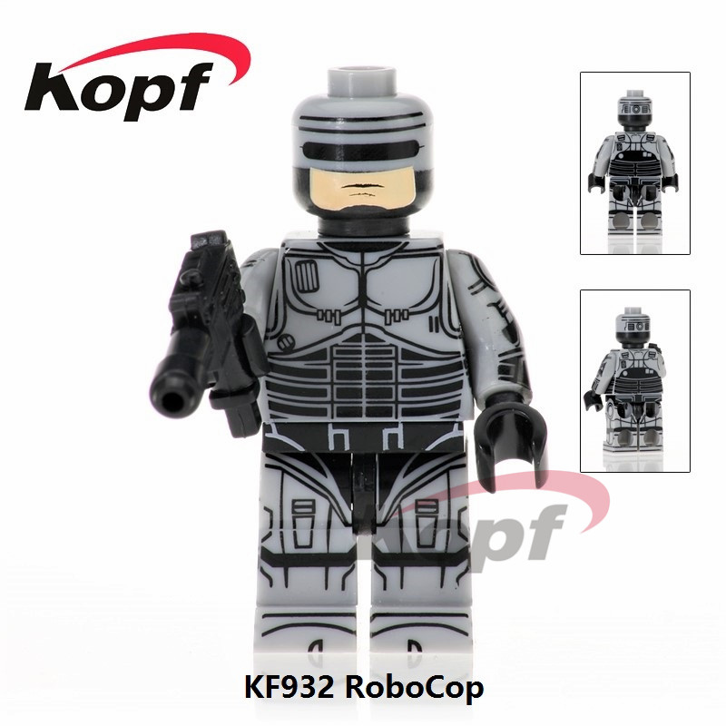 Single Sale Super Heroes Robocop Movie Alex J. Murphy Star Wars Voltron Team Godmars Building Blocks Children Gift Toys KF932 super heroes single sale the villain of yellow lantern skeletor heman he man he man building blocks toys for children gift kf921