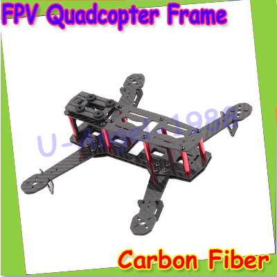 Wholesale 1pcs Blackout 100 Carbon Fiber Mini 250 FPV Quadcopter Frame for QAV250 Unassembled