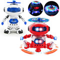 Sci-fi 360 Rotating Children Electronic Walking Dance Smart Space Robot Kid Cool Astronaut Model Music Light Toys Christmas Gift