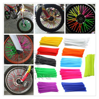 72Pcs Colorful Florescent Motorcycle Dirt Bike Wheel Rim Spoke Covers Wrap Decor Protector For Dirt Bike