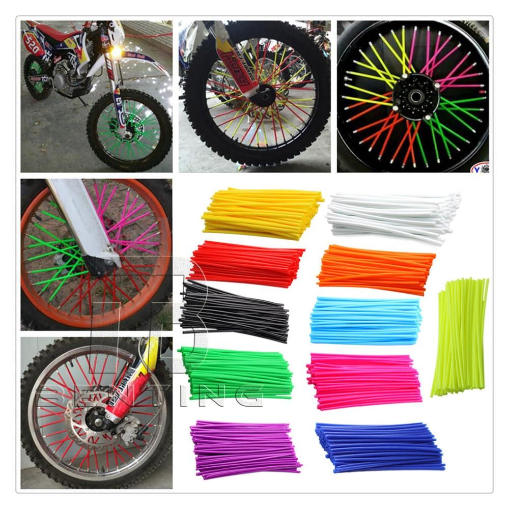 72пк красочные дневную мотоцикл DiRT велосипед обода колеса говорил крышки обернуть Декор протектор для грязь велосипед ATV квадроцикл мини мотоцикл