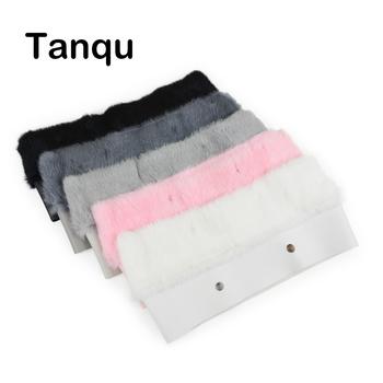 Tanqu New 11 kolory kobiety torba pluszowe Trim dla O BAG Thermal pluszowe ozdoba królik futro Fit dla Classic Big Mini OBAG tanie i dobre opinie 0930 W TANQU 110g Ornament Futro królicze