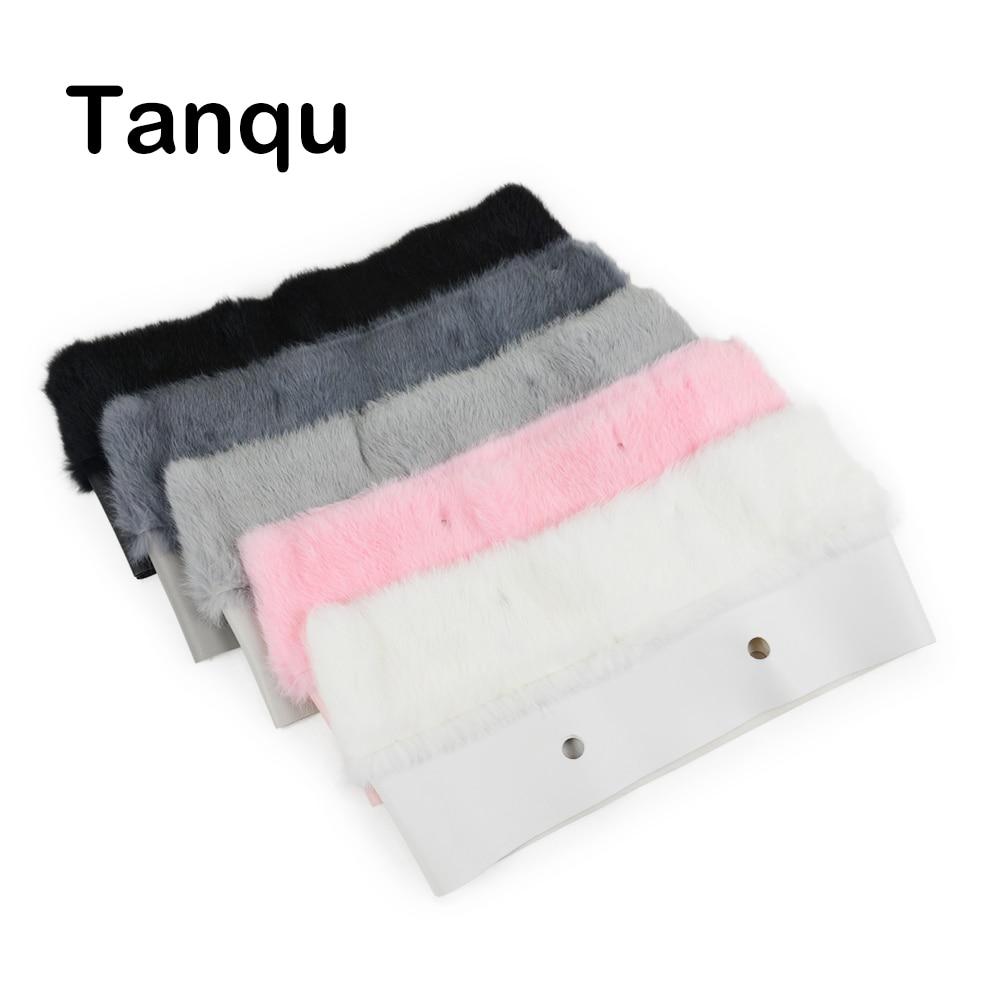 Tanqu novo 11 cores feminino saco de pelúcia guarnição para o saco de pelúcia térmica decoração de pele de coelho apto para clássico grande mini obag