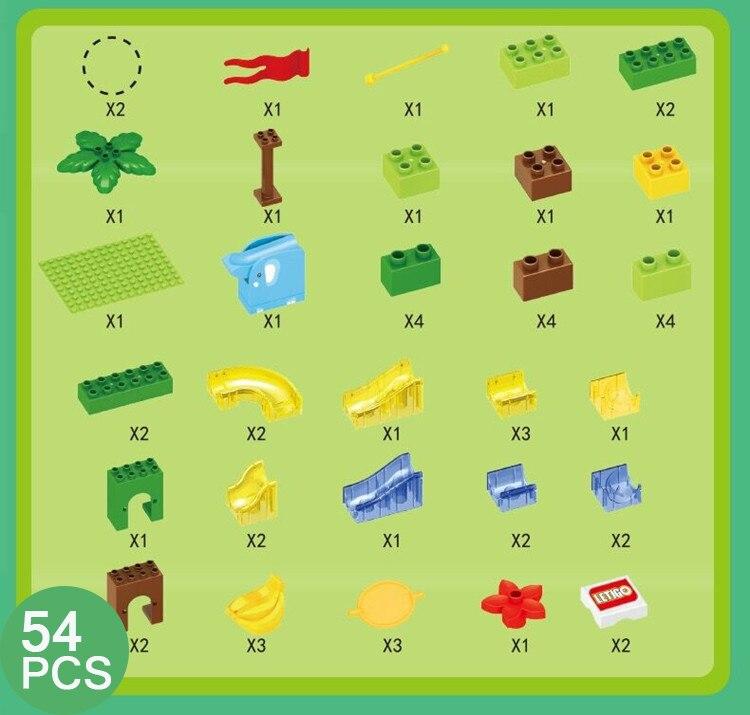 168 pçs mármore corrida labirinto bola slide pista cidade blocos de construção plástico crianças educacionais montar brinquedos para crianças presentes 5