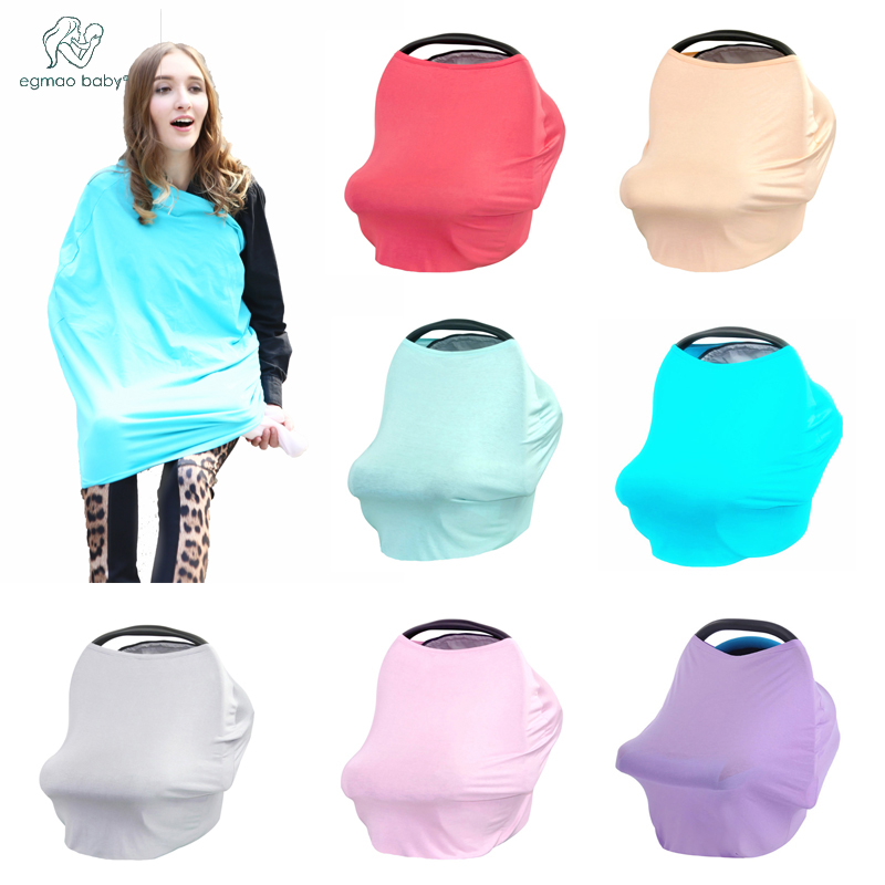 2017 Hot selling solid color Cotton Nursing Cover & shawl breast feeding covers for Newborn Baby boys and girls
