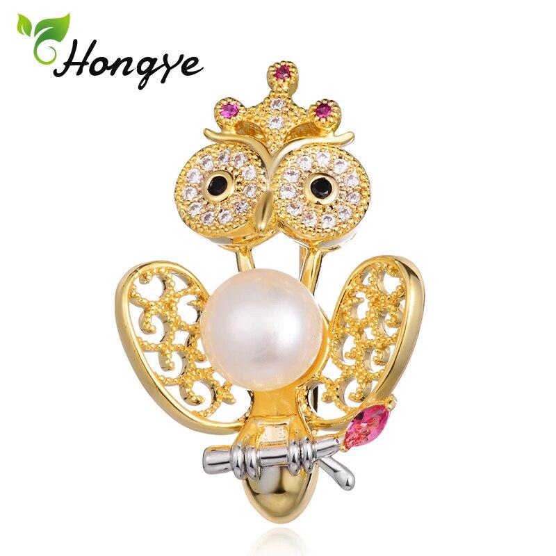 Hongye 2018 Gold Bird Brooches Scarf Pins Women