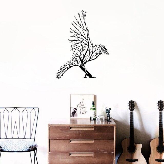 Superb Kreative Abstraktion Baum Vogel Kunst Vinyl Wandaufkleber Dekorative  Aufkleber Sofa Vorhang Schlafzimmer Decals Removable