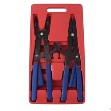 16Inch Heavy Duty Circlip 2 Pliers 12 Tips Set Snap Ring Retaining Ratchet Snap Ring Plier Set