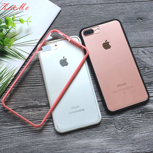 For iPhone8 Hard PC+ Soft TPU Cover For iPhone 7 8 6s Plus X XS 11Pro Max XR Case Cases Phone Shell Fashion Colorful Frame Clear(China)