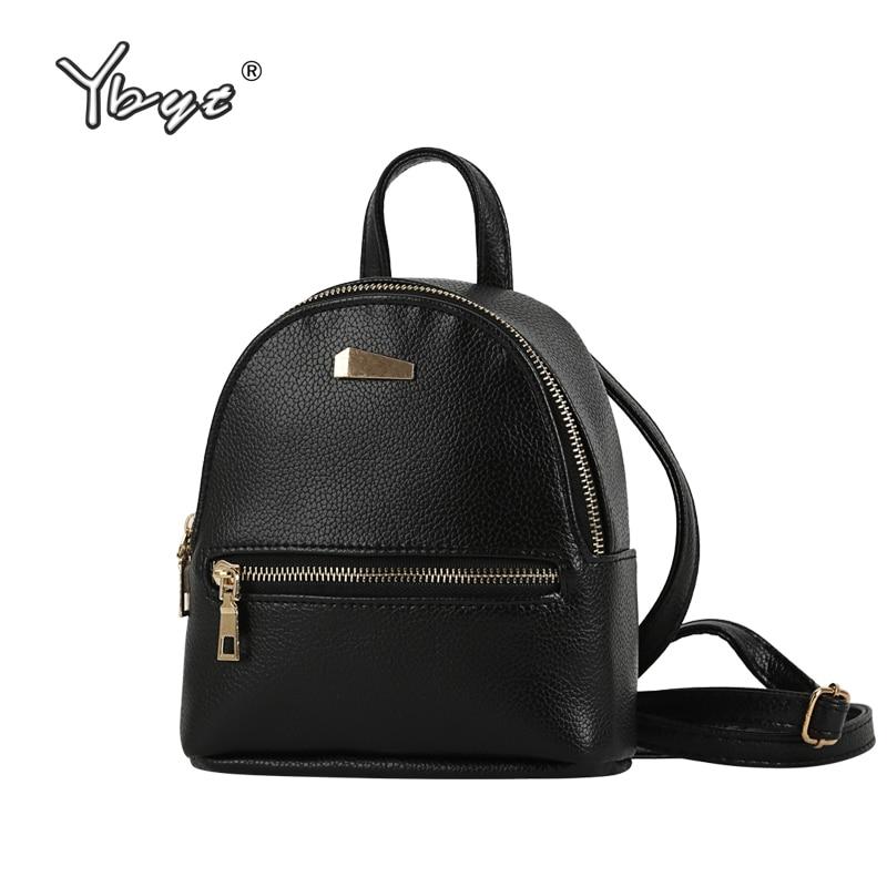 YBYT 브랜드 2018 여성용 가죽 백팩 미니 패션 배낭 숙녀 조커 백 팩 여행용 가방 학생 배낭 학교 Morrales