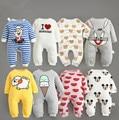 2017 produto de bebes jumpsuit roupas de bebê primavera outono bebê dos desenhos animados macacão 100% algodão BEBÊ menino roupas de menina recém-nascidos