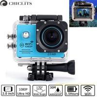 For SJ7000 Camera Ultra HD 1080P/20inch WiFi 2.0 170D Underwater Waterproof Helmet Video Recording Cameras Sport Cam 30M