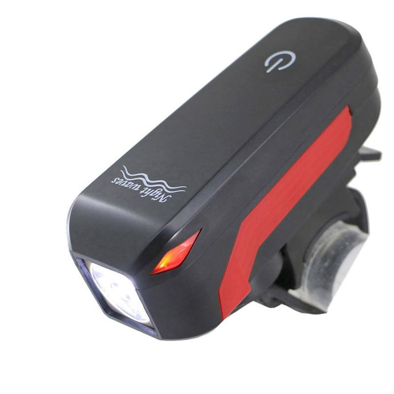 Bike Light <font><b>Horn</b></font> bell Bicycle Light DB Speaker LED Front Head Light Lamp USB led Lamp Cycling Flashlight Bicycle Accessories