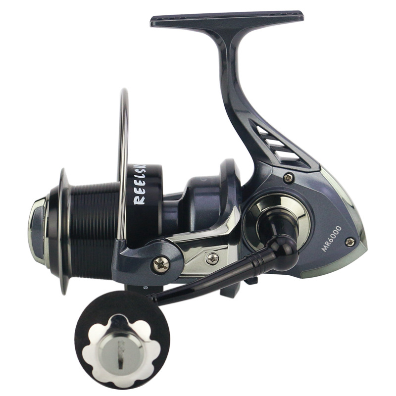Carretilha fishing reel MR4000/5000/6000/7000 Long Shot 13+1BB Spinning Whee 5.2:1 Big Line Capacity For Fish EVA Metal Pesca