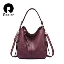 7a8a5eae699fe4 REALER kobiet torebki PU skóra kobiet Crossbody torby na ramię wysokiej  jakości messenger torby dla pań