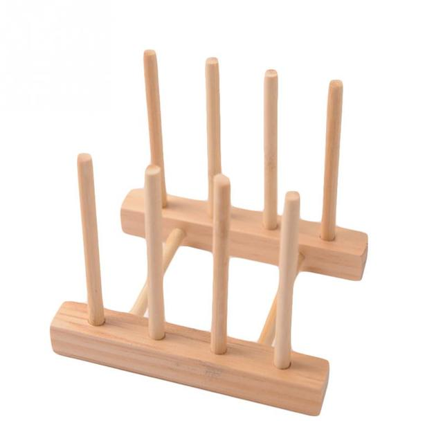 Simple Bookshelf Dish Rack Pots Wooden Plate Stand Wood Kitchen Cups Display Drainer Holder  sc 1 st  AliExpress.com & Simple Bookshelf Dish Rack Pots Wooden Plate Stand Wood Kitchen Cups ...