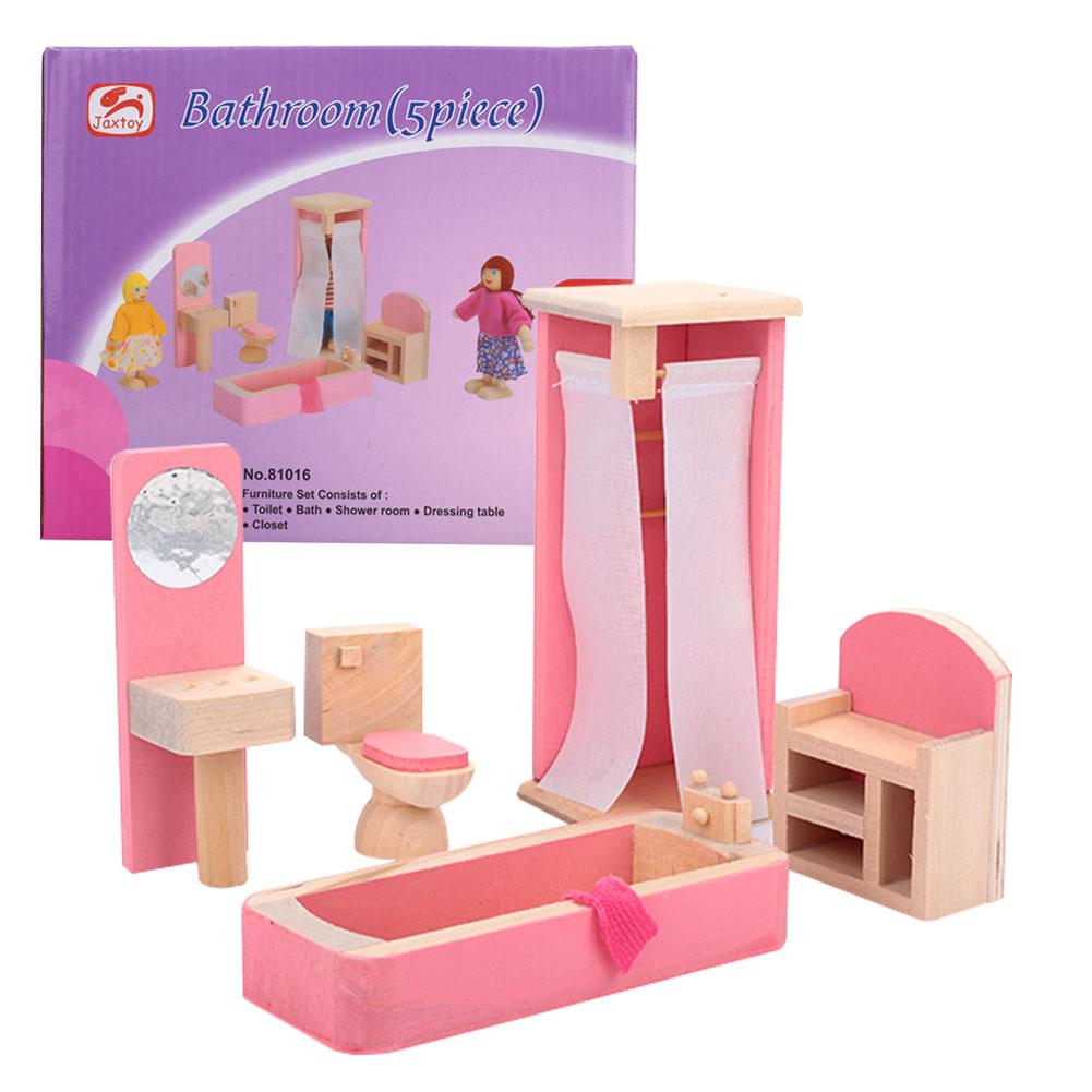 Красивый кукольный домик Туалет 1:12 кукольный домик мини мебель для детей Прямая - Цвет: toilet