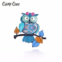 Cring CoCo Bird Pins and Brooches for Women Sweater Girls Badges Hard Enamel Pin Animal Jewelry