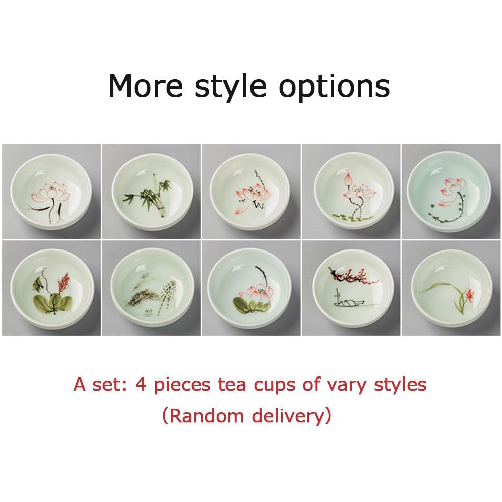 52ML Չինական Kung Fu Tea Cup Ceramic Hand ներկված - Խոհանոց, ճաշարան եւ բար - Լուսանկար 4