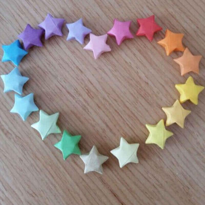 80 шт = 1 мешок ручной работы оригами бумажные звёзды полоски бумаги для квиллинга и оригами бумаги украшения дома свадьбы