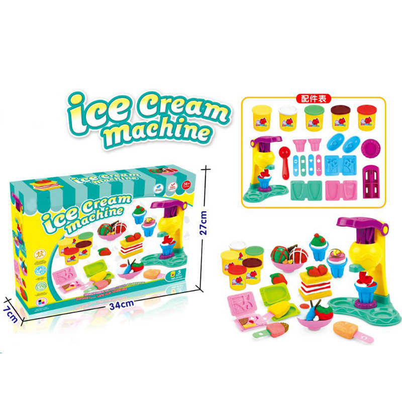 7685ea670 ... Children Play Dough Model Tool Toys For Kids Plasticine Play Dough Ice  Cream Sets With Slime
