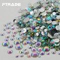 Venda Super Brilhante Tamanhos Mistos Crystal Clear AB Cor 3D Decorações Da Arte Do Prego Acrílico Strass FlatBack Não HotFix