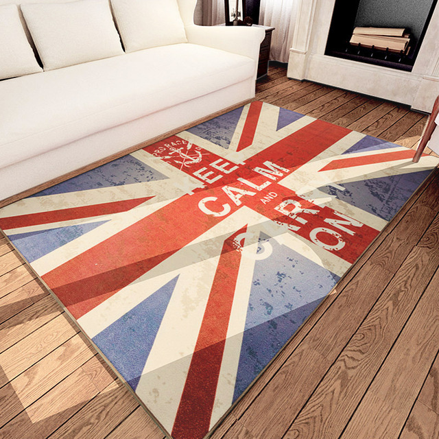 Keep Calm And Carry On Floor Carpet Uk Flag British Style Area Rugs For Living Room