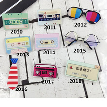 Acrylic Badge Brooches Tape Pins Cartoon Sunglasses Radio Record Brooch Clothes Shoes Package Women Men Jewelry Accessories