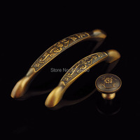 Free Shipping Meatal Handle Zinc Alloy Furniture Handle European Antique Kitchen Cabinet Door Knob Drawer Pull