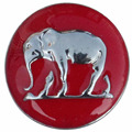 (120 pieces/lot) Red Green Purple Brown Black Elephant Snap Button