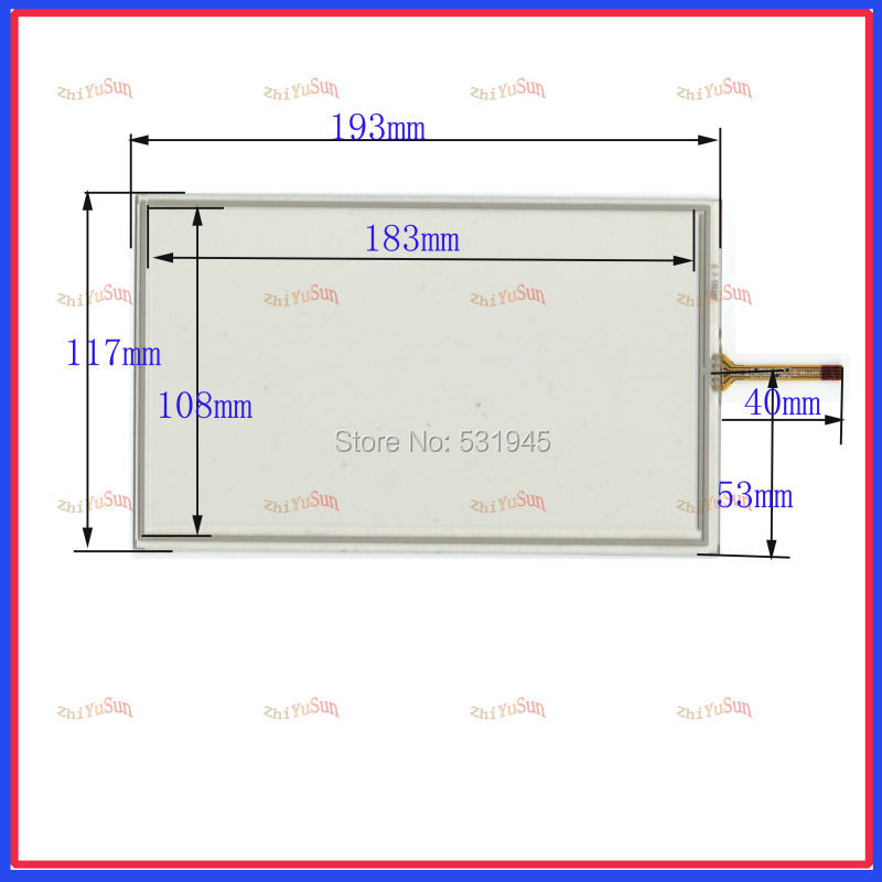 HLD-TP-1684 compatible 8 -inch resistive touchscreen display on the outside flat screen handwriting